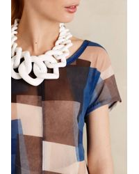 Anthropologie | White Crescendo Link Necklace | Lyst