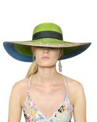 Etro | Green Straw Hat | Lyst