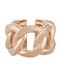 Givenchy - Metallic Chain Ring In Rose Gold-tone Metal - Lyst
