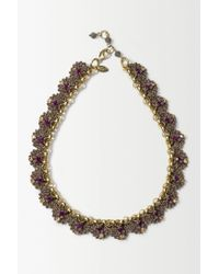 Anthropologie | Purple St Erasmus Crochet Gild Necklace | Lyst