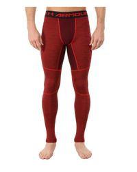 Under Armour - Red Ua Coldgear® Armour® Twist Compression Legging for Men - Lyst