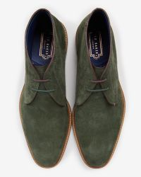 Ted Baker   Green Suede Ankle Boots for Men   Lyst