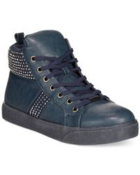 Wanted | Blue Tylar High Top Sneakers | Lyst