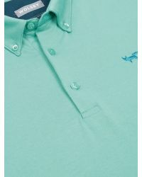 Wolsey | Green Half And Half Regular Fit Polo Shirt for Men | Lyst