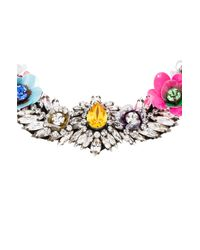 Shourouk | Multicolor Flower Necklace | Lyst