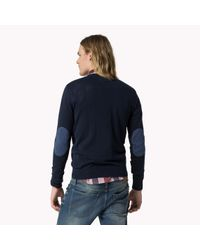 Tommy Hilfiger | Blue Cotton Crew Neck Sweater for Men | Lyst