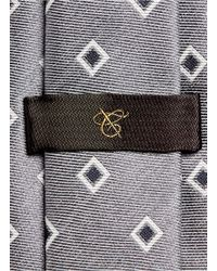 Canali - Gray Square Jacquard Silk Tie for Men - Lyst