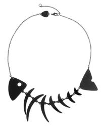 Tatty Devine | Black Fishbone Necklace | Lyst