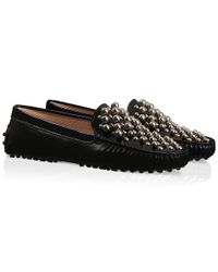 Tod's | Black Gommino Driving Shoes In Leather for Men | Lyst