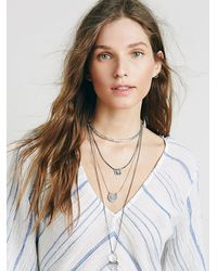 Free People | Metallic Womens Dany Tiered Drop Collar | Lyst