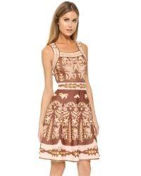 M Missoni - Pink Embroidery Jacquard Dress - Lyst