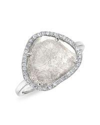 Anne Sisteron - Metallic 14kt White Gold Organic Diamond Slice Ring - Lyst