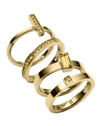 Michael Kors | Metallic Stackable Rings, Set Of 4 | Lyst