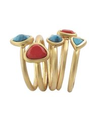 Karen Kane | Orange Tropicali Stacked Ring Set | Lyst