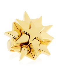 Eddie Borgo | Layered Star Ring Yellow Golden Size 7 7 | Lyst