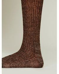 Free People - Brown Hand Knit Marl Thigh Hi - Lyst