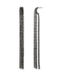 Banana Republic   Metallic Fringe Stud Earring   Lyst