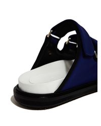 Marni - Blue Womens Fussbett Velcro Sandal - Lyst