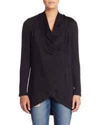Bobeau - Black Two-button Cardigan - Lyst
