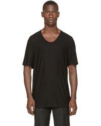 T By Alexander Wang - Black Pilled Silk T_shirt for Men - Lyst