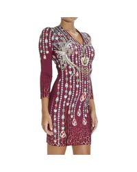 Just Cavalli | Purple Dress | Lyst
