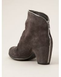 Officine Creative - Gray Ankle Boot - Lyst