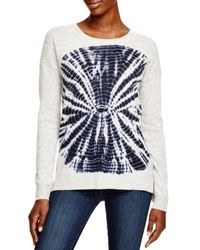 Aqua - Gray Cashmere Circle Tie Dye Sweater - Lyst
