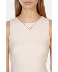 Karen Millen | Metallic The Angle Crystal Pendant | Lyst