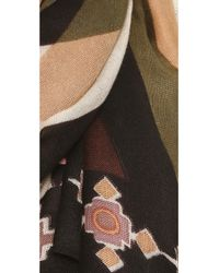 Theodora & Callum - Green Deer Valley Scarf - Beige Multi - Lyst