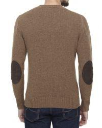 Jules B - Brown Lambswool Crew Neck Sweater for Men - Lyst