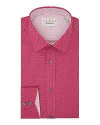 Ted Baker | Red Archane Slim Fit Geometric Print Shirt for Men | Lyst