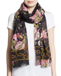 Dolce & Gabbana - Multicolor Floral-Print Rope Border Scarf - Lyst