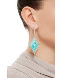 Ana Khouri | Blue 18K White Gold White Diamonds Amazonite Velvet Star Earrings | Lyst