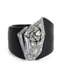 Alexis Bittar | Black 'lucite' Crystal Hinge Cuff | Lyst