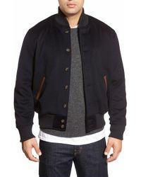 Golden Bear | Blue Loro Piana Wool Baseball Jacket for Men | Lyst