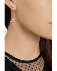 Sophie Bille Brahe - White Dauphin 14-Karat Gold Pearl Earring - Lyst