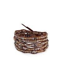 Chan Luu | Brown Beaded Wrap Bracelet | Lyst