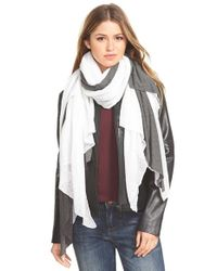 Donni Charm | White 'Together Touch' Colorblock Scarf | Lyst