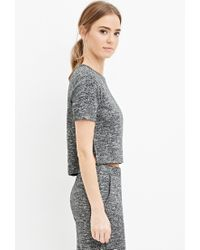 Forever 21 | Gray Boxy Marled Knit Top | Lyst