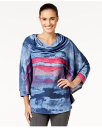 Miraclesuit | Multicolor Cowl-neck Printed Poncho | Lyst