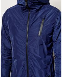G-Star RAW - Blue G Star Hooded Jacket Kensetsu Nylon for Men - Lyst