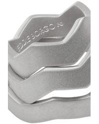 Eddie Borgo | Metallic Zig Zag Set Of Three Silver-Plated Rings | Lyst