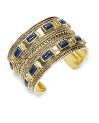 House of Harlow 1960 | Blue Stone Cuff Bracelet | Lyst