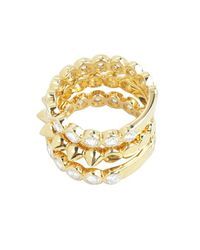 Noir Jewelry - Metallic Barclay Stackable Ring - Lyst