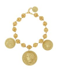 Dolce & Gabbana - Metallic Gold-tone Coin Necklace - Lyst