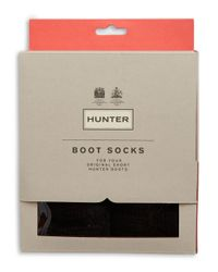 Hunter | Black Folded Cuff Boot Socks | Lyst