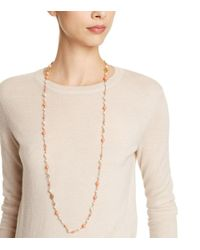 Tory Burch - Metallic Crystal-pearl Convertible Necklace - Lyst