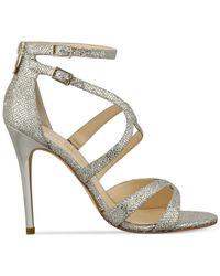 Ivanka Trump | Metallic Hotis Strappy Dress Sandals | Lyst
