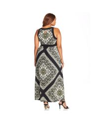INC International Concepts - Black Plus Size Printed Halter Maxi Dress - Lyst