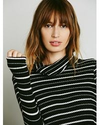 Free People | Black We The Free Stripe Kristina Thermal | Lyst